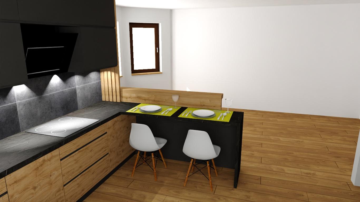 Sekwoja Dębica - Antracytowa kuchnia z domieszką drewna